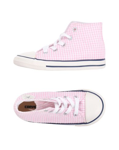 Converse All Star Ctas Baskets Hi Rose / Blanc / Bleu Insignes