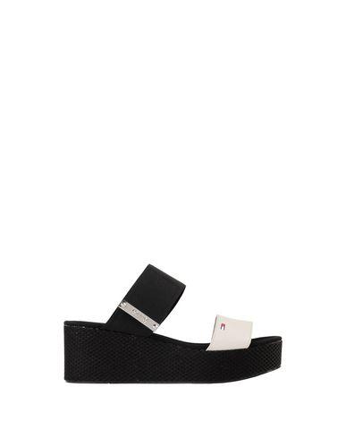Matériau Jean Tommy Mélange Flatform Sandale Sandalia officiel vente au rabais vente combien de Chine islAPv