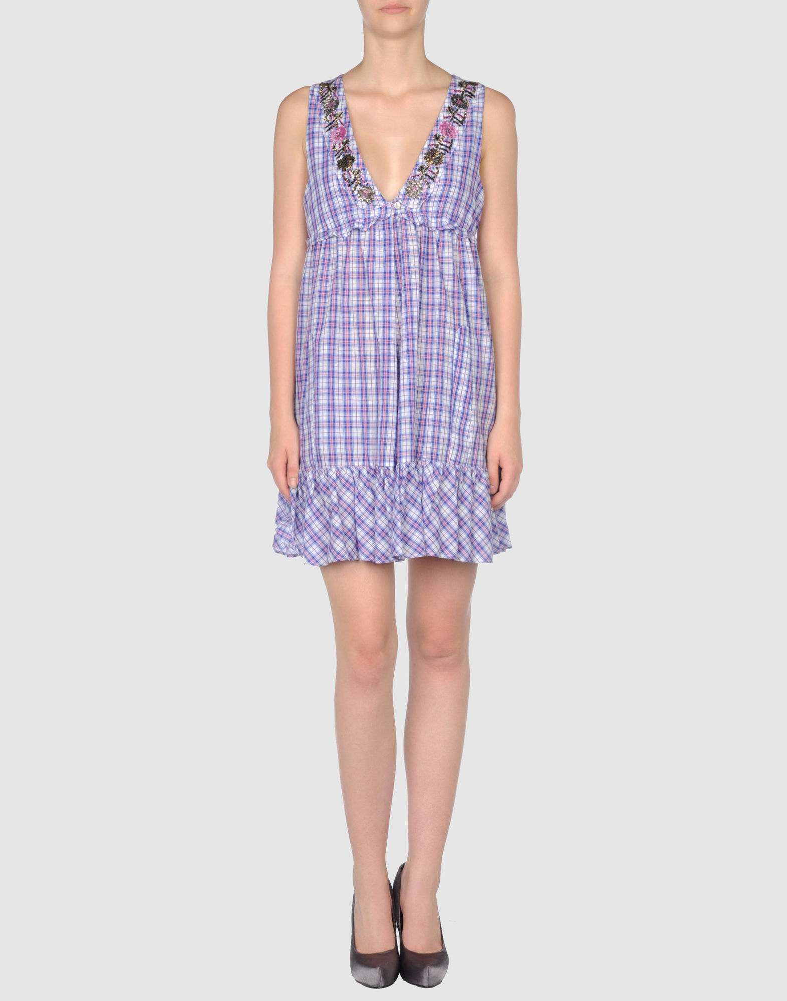 Space Style Concept Short Dress   Women Space Style Concept Short Dresses   34241781XS