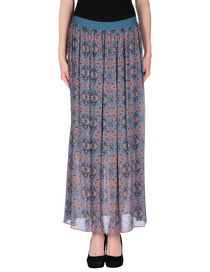 PINKO GREY - Long skirt