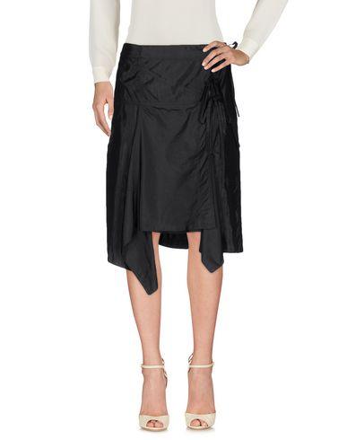 isabel marant knee length skirt schwarz modesens. Black Bedroom Furniture Sets. Home Design Ideas