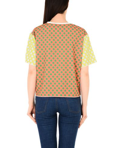 Conception Studio Leo Courte Soie T-shirt Blusa extrêmement visite de sortie nouveau limitée vente NxBg0MS