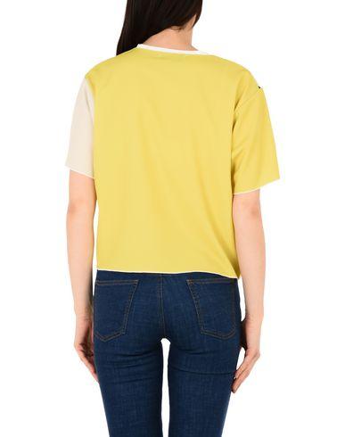 Conception Studio Leo Courte Soie T-shirt Blusa original en ligne gLtAku