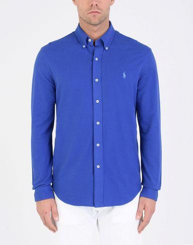 sites à vendre vraiment pas cher Polo Ralph Lauren Ajustement Personnalisé Chemise Tricot Camisa Lisa offre pas cher P6W2CEuOP