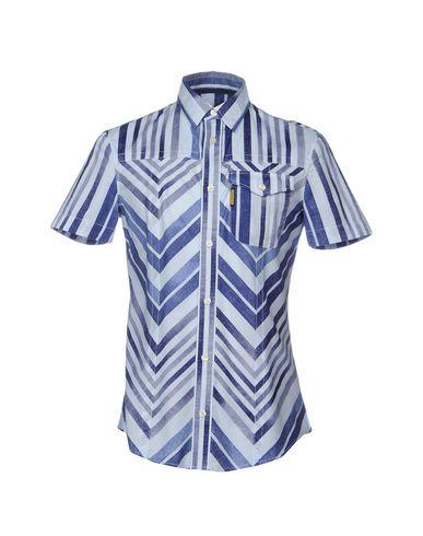 Armani Jeans Chemises Rayées vente Footlocker oHKKpgC
