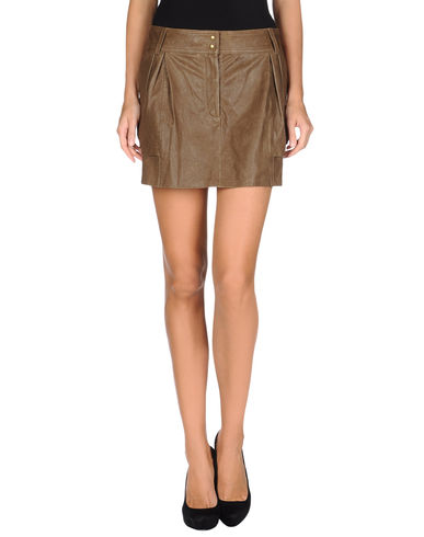 DIANE VON FURSTENBERG - Leather skirt
