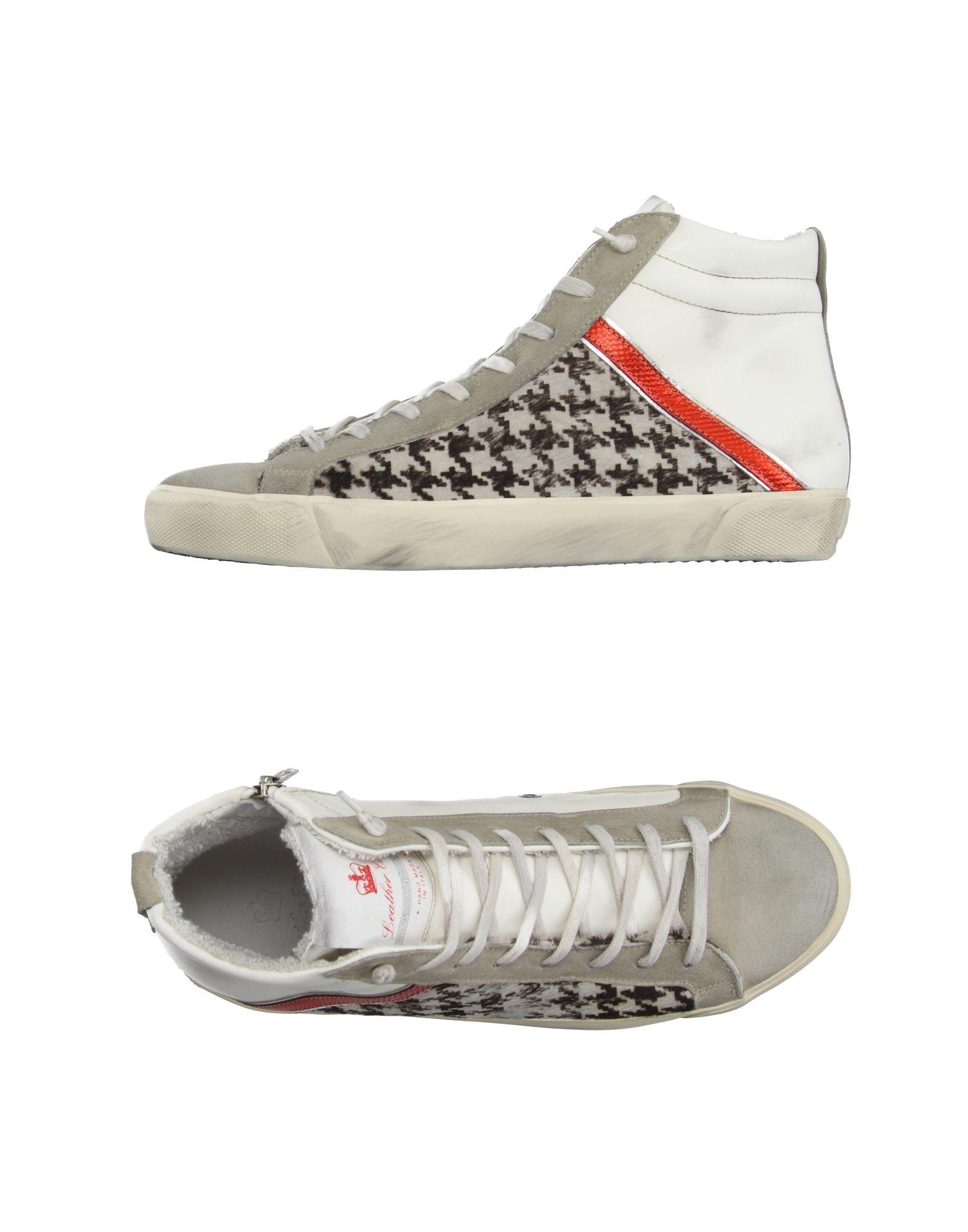 Rabatt echte Schuhe Leather Crown Sneakers Herren  11020043QB
