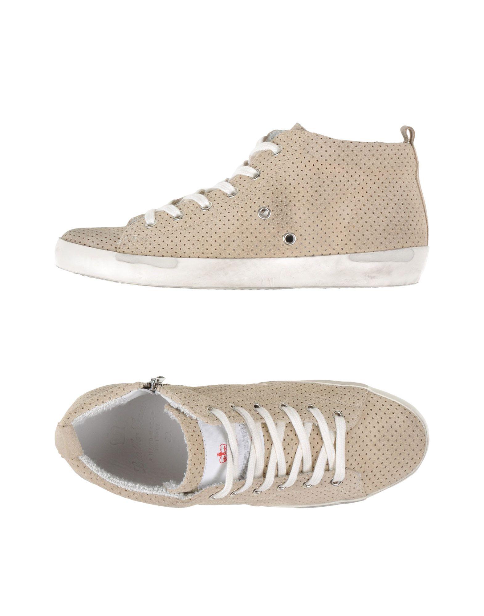 Rabatt echte Schuhe Leather Crown Sneakers Herren  11031228BC