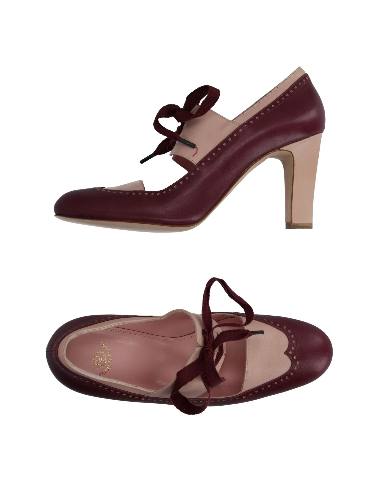Chaussures À Lacets Roses Roses Femme - Chaussures À Lacets Roses Roses sur