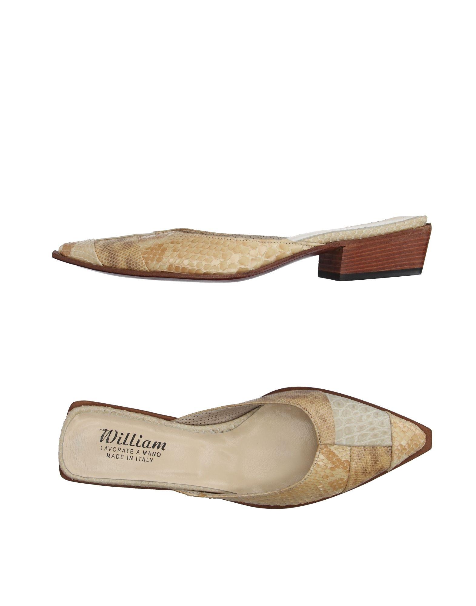 Haltbare Mode billige Schuhe William Pantoletten Damen  11099258OK Heiße Schuhe
