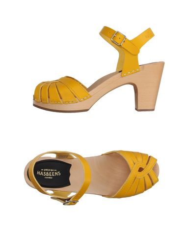 SWEDISH HASBEENS Sandals in Yellow