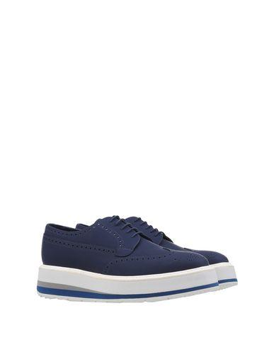 Chaussures Lacets À Foncé Bleu Prada 6EqndWg