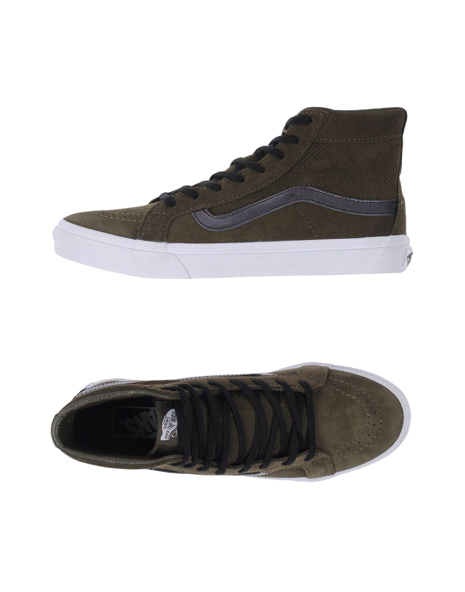 Nuevos zapatos para hombres y mujeres, descuento por tiempo tiempo tiempo limitado Zapatillas Vans U Sk8-Hi Slim Cutout Perf Suede Ta - Mujer - Zapatillas Vans  Verde militar 3a7563