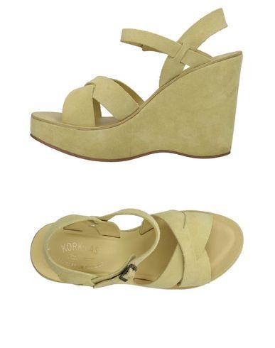 KORK-EASE Sandals in Light Yellow