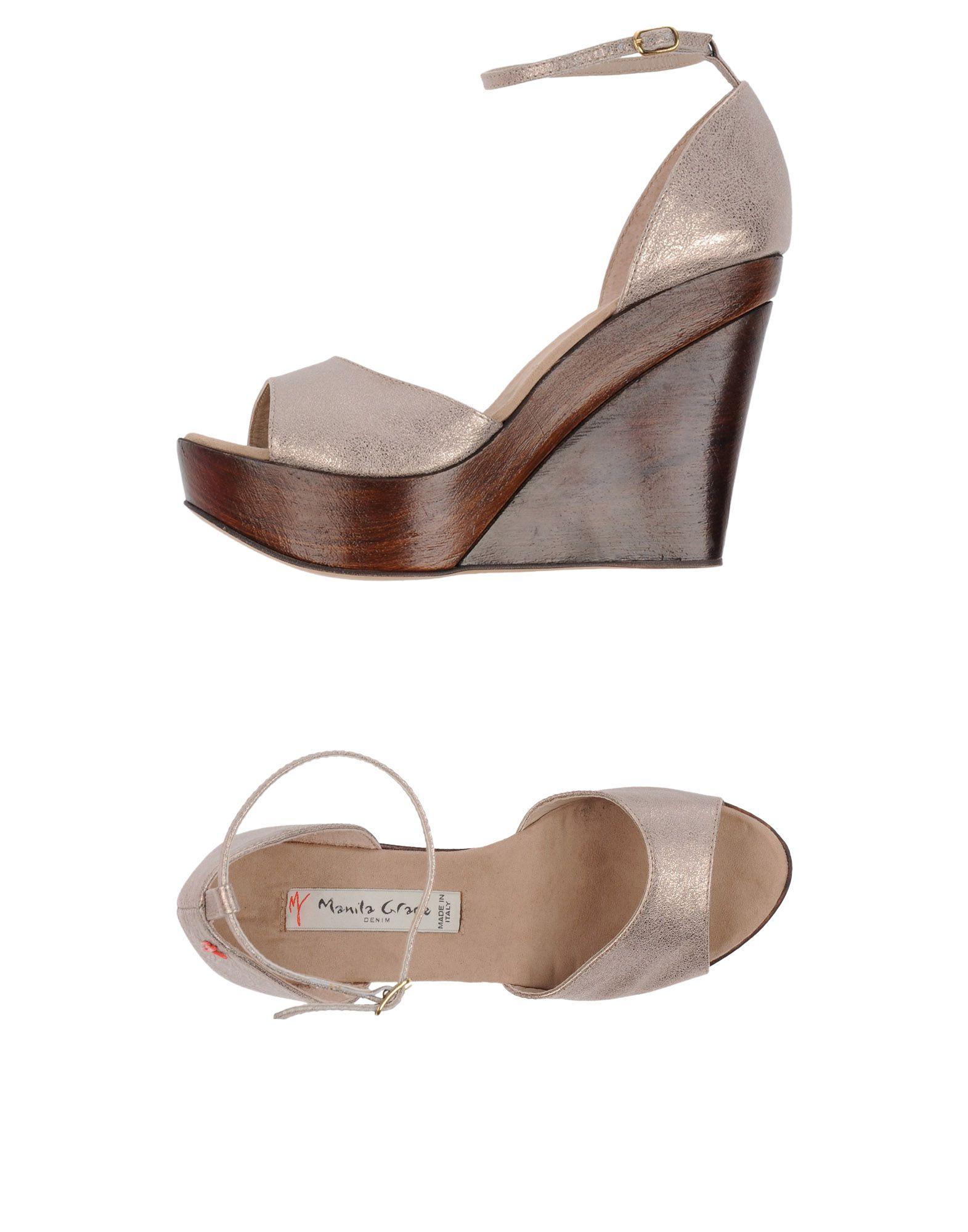 Gut um billige Schuhe zu tragenManila Grace Denim Sandalen Damen  11162002VJ