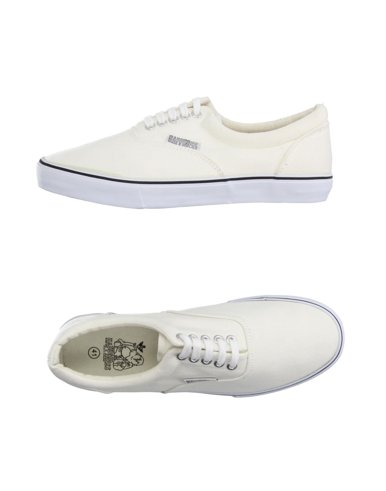 Sneakers Happiness Homme - Sneakers Happiness  Blanc Remise de marque
