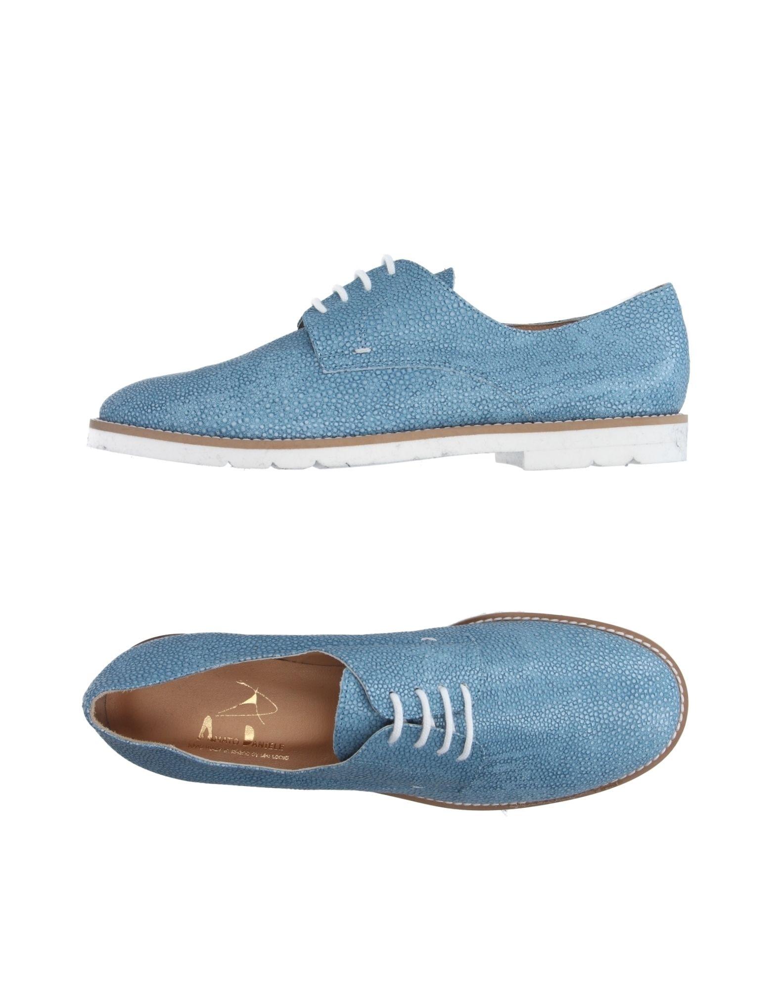 Recortes de precios estacionales, beneficios de descuento Zapato Zapato descuento De Cordones Amato Daniele Mujer - Zapatos De Cordones Amato Daniele  Azul celeste e01248