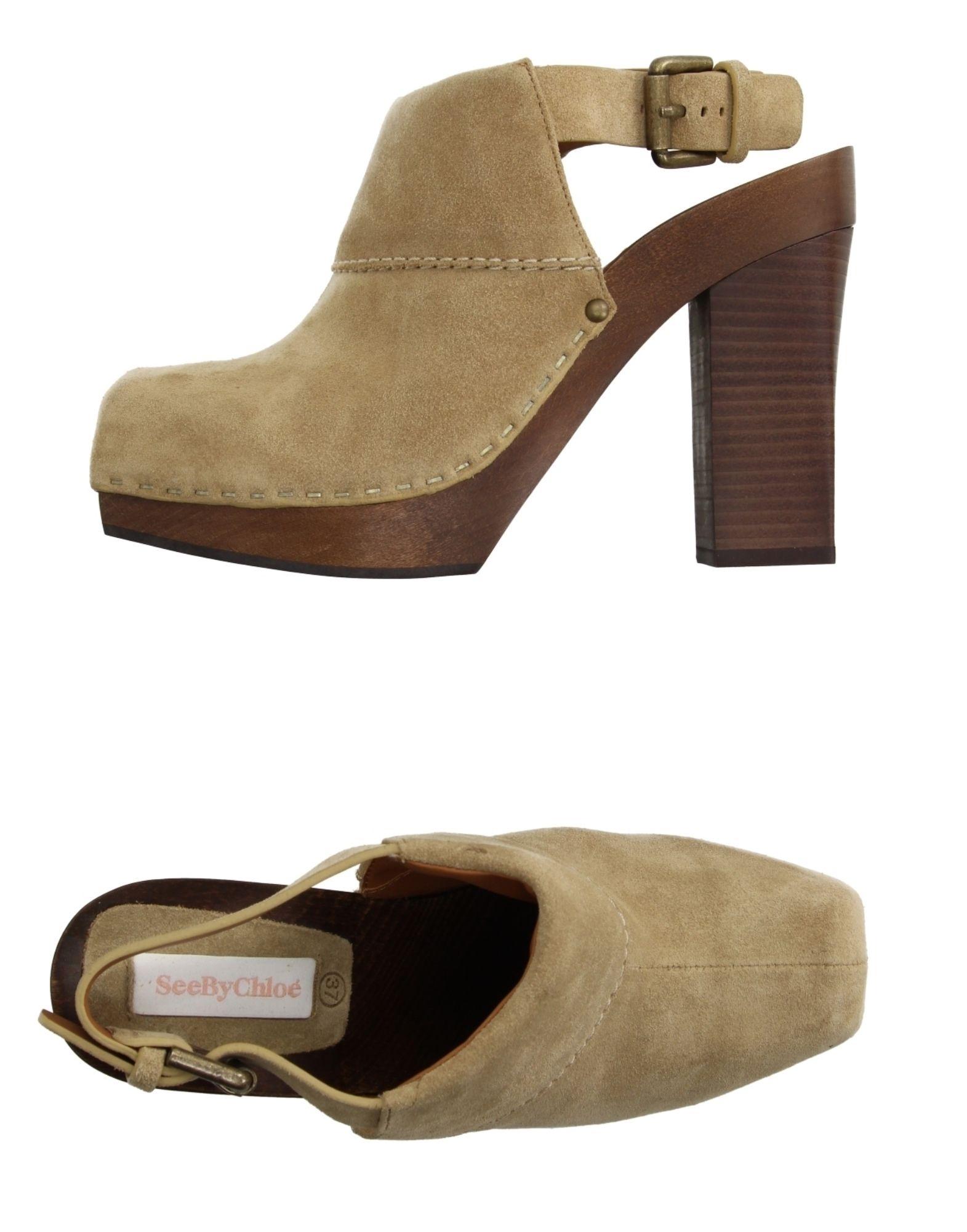 See Chloé By Chloé See Pantoletten Damen  11174875GW Neue Schuhe f08ebc