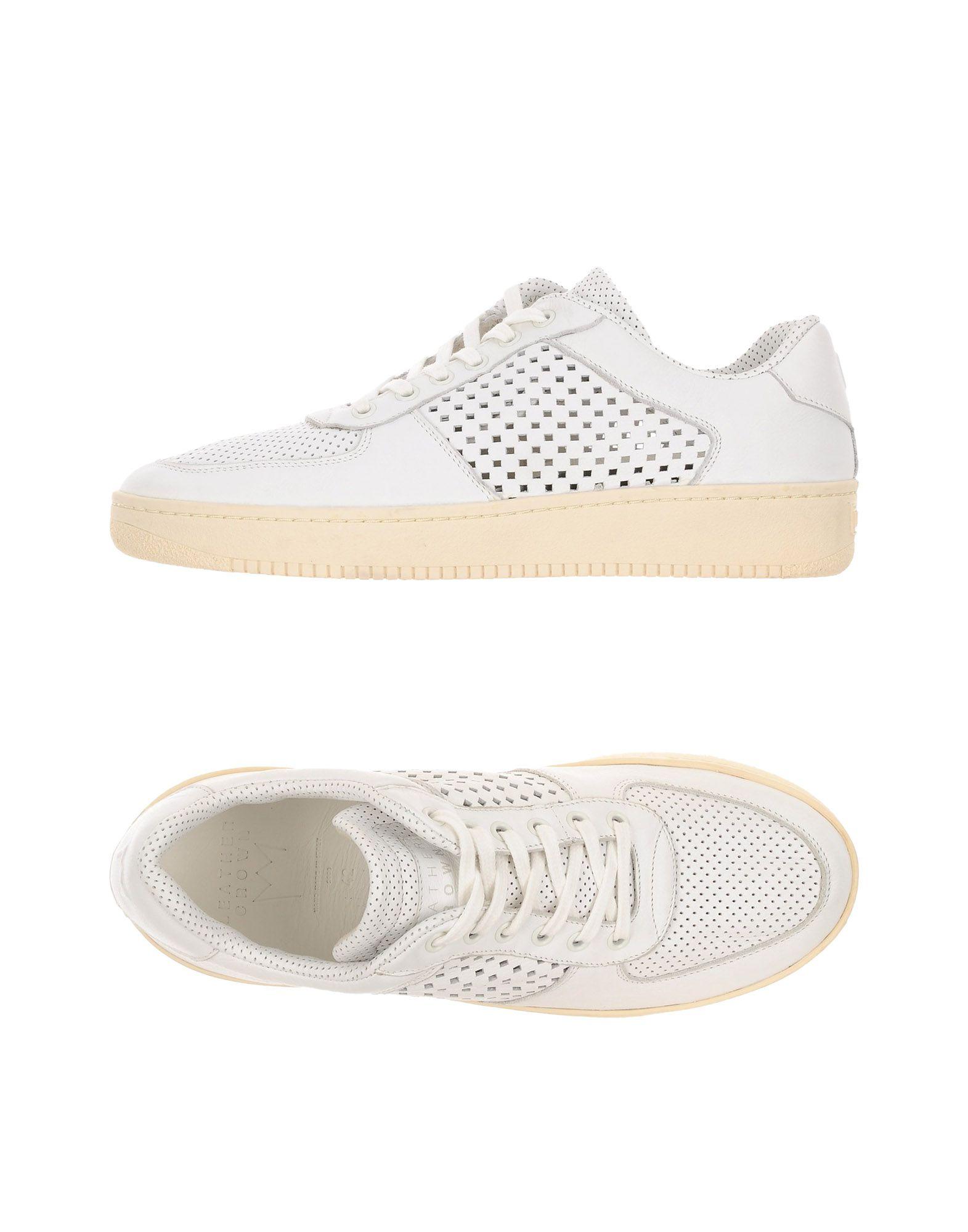 Rabatt echte Schuhe Leder Crown Sneakers Herren  11198031EL