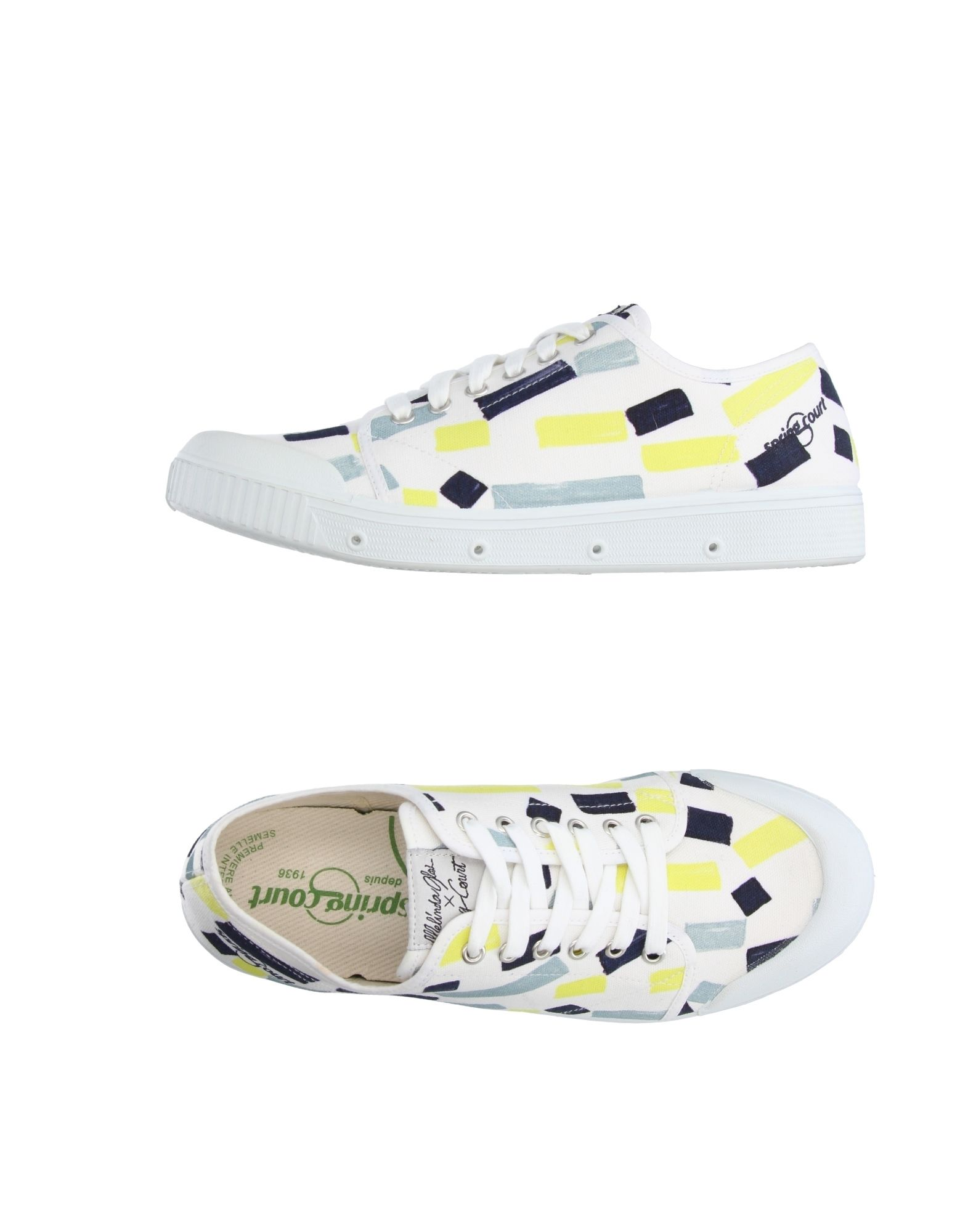 Sneakers Spring Court Homme - Sneakers Spring Court  Blanc Super rabais