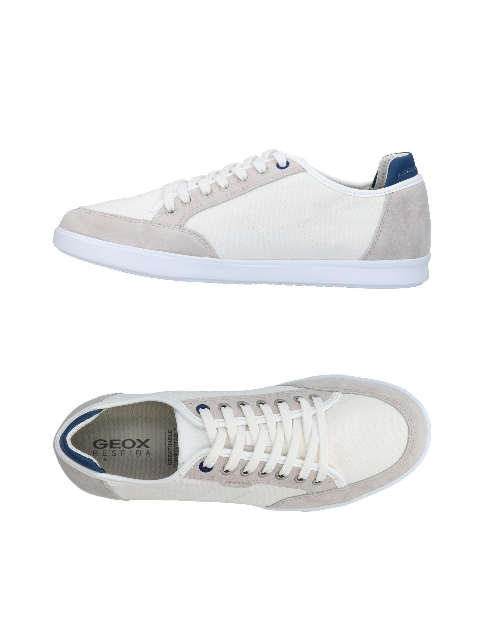 Sneakers Geox Homme - Sneakers Geox  Blanc Meilleur modèle de vente