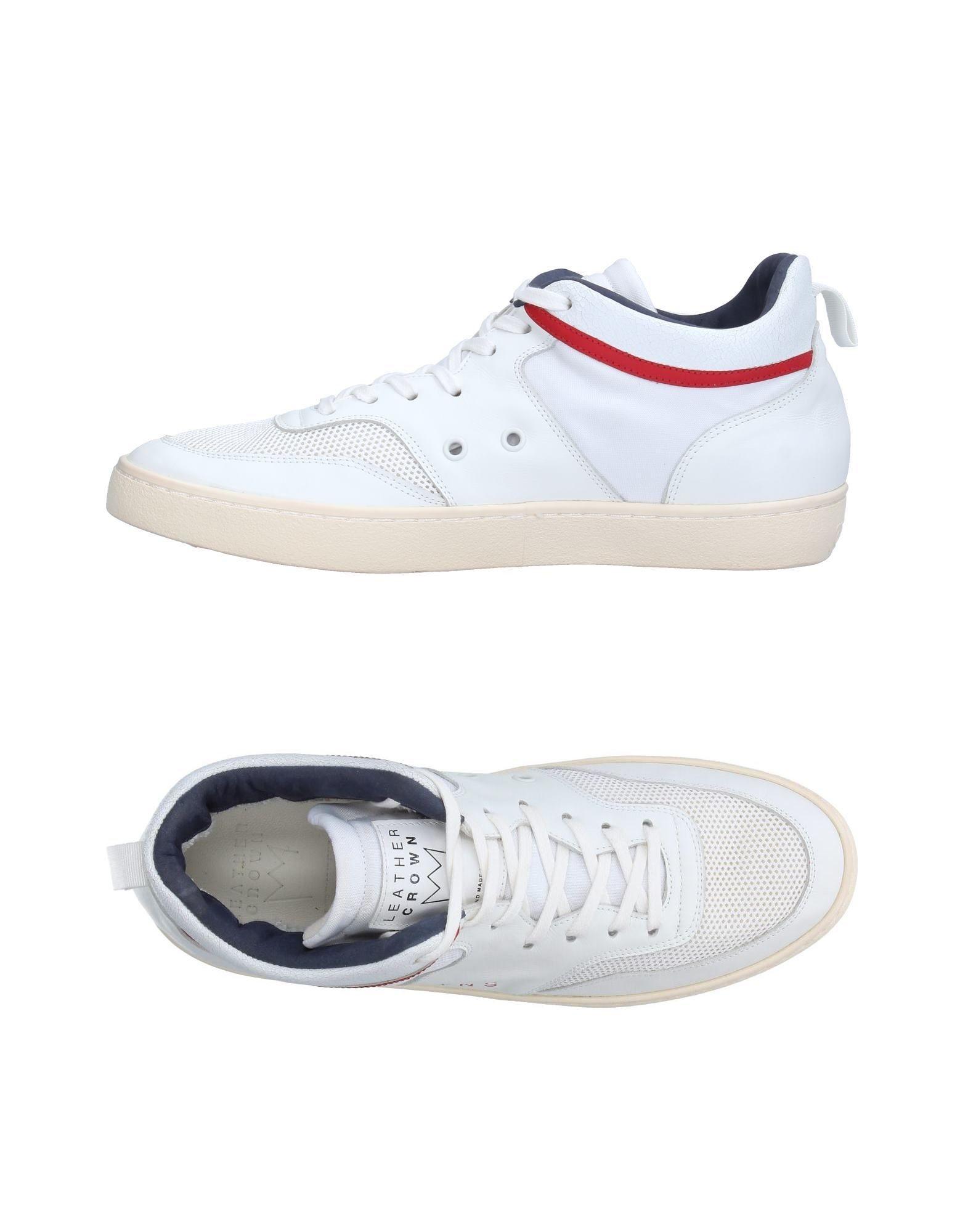 Rabatt echte Schuhe Leather Crown Sneakers Herren  11223904EF