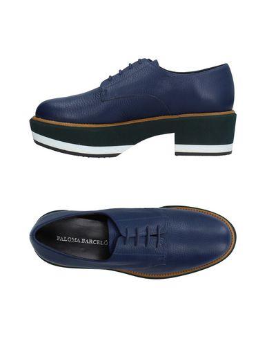 À Chaussures Foncé Paloma Barceló Bleu Lacets wSqn0YE