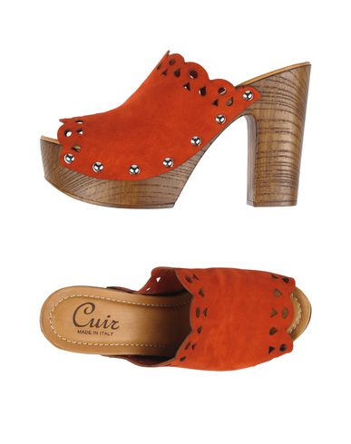 CUIR - Open-toe mules