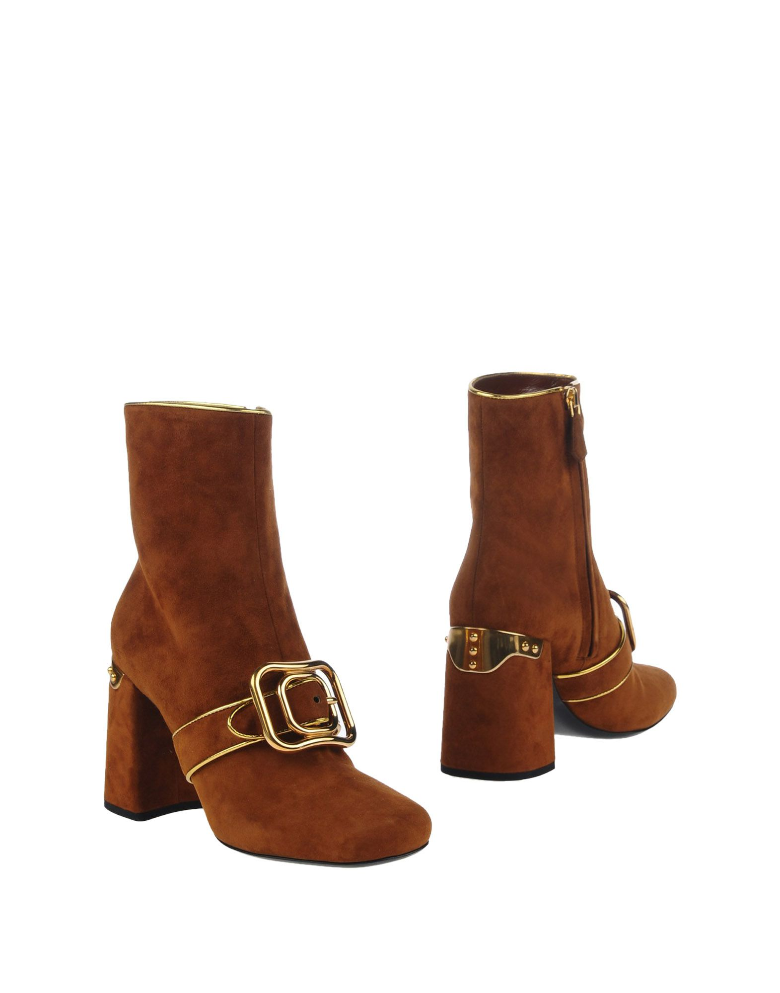 Bottine Prada Femme - Bottines Prada Camel Remise de marque
