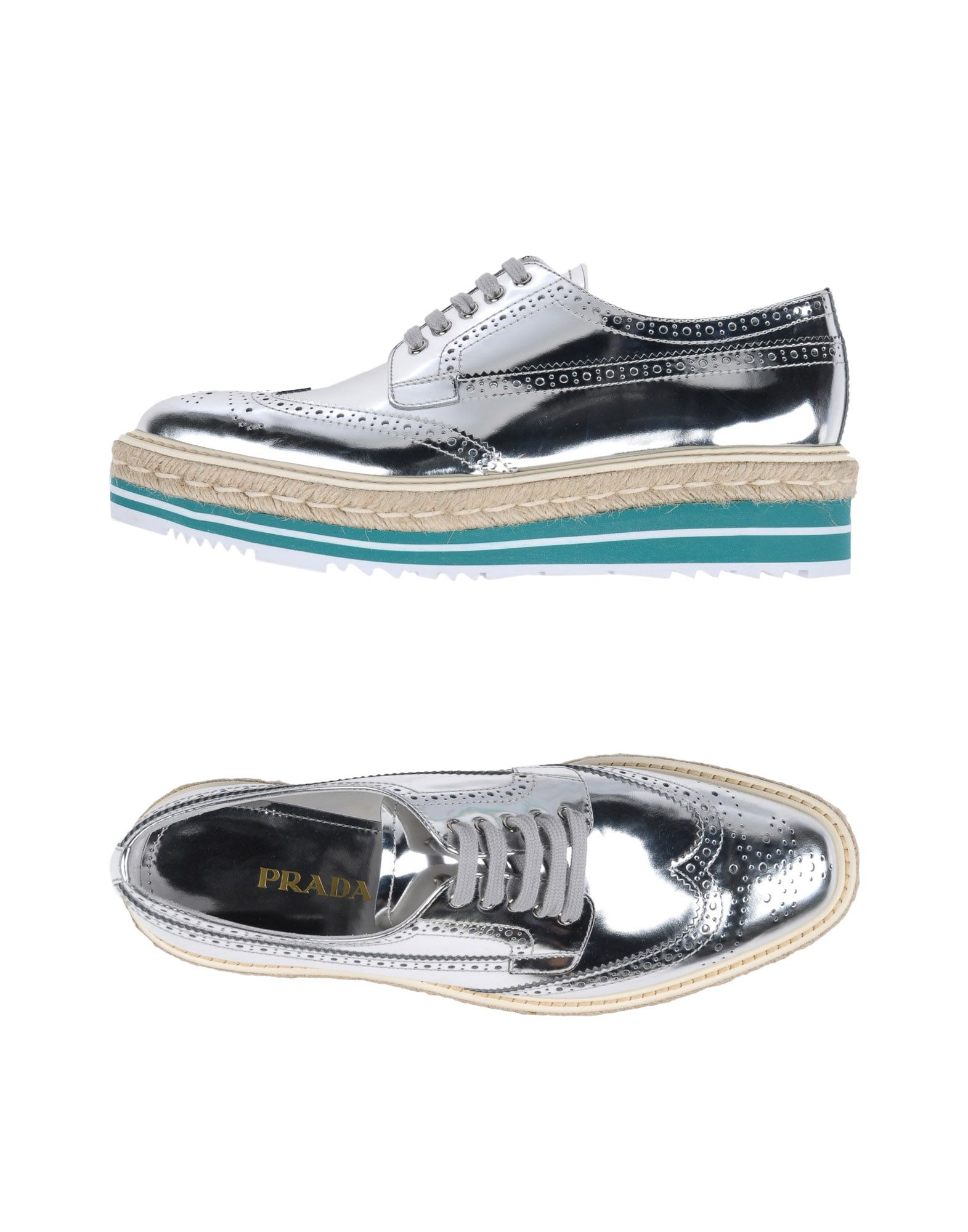 Haltbare Mode billige Schuhe Prada Schnürschuhe Damen  11234204WT Heiße Schuhe