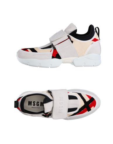 Women MSGM Sneakers Soft Leather Black RC89286