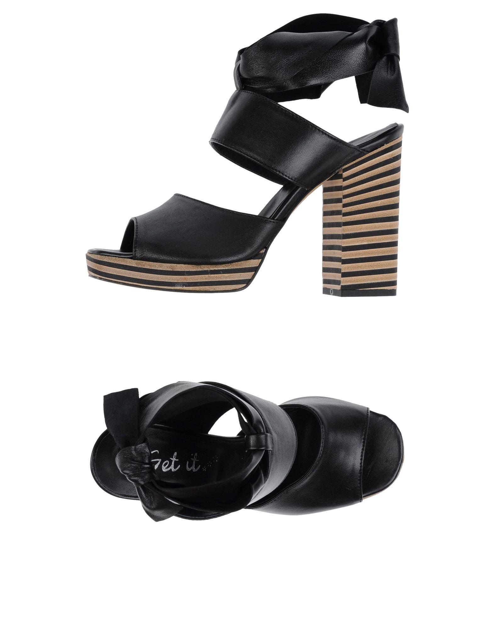 Descuento de la Sandalia marca Sandalia la Get It Mujer - Sandalias Get It  Negro a4cbb5