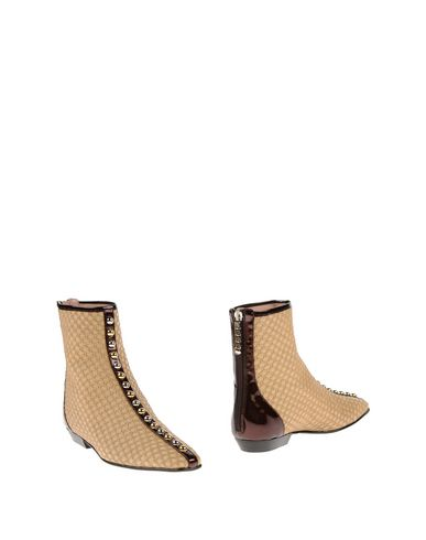 J.W.ANDERSON Leather & Patent Leather Stud Ankle Boots, Beige ...