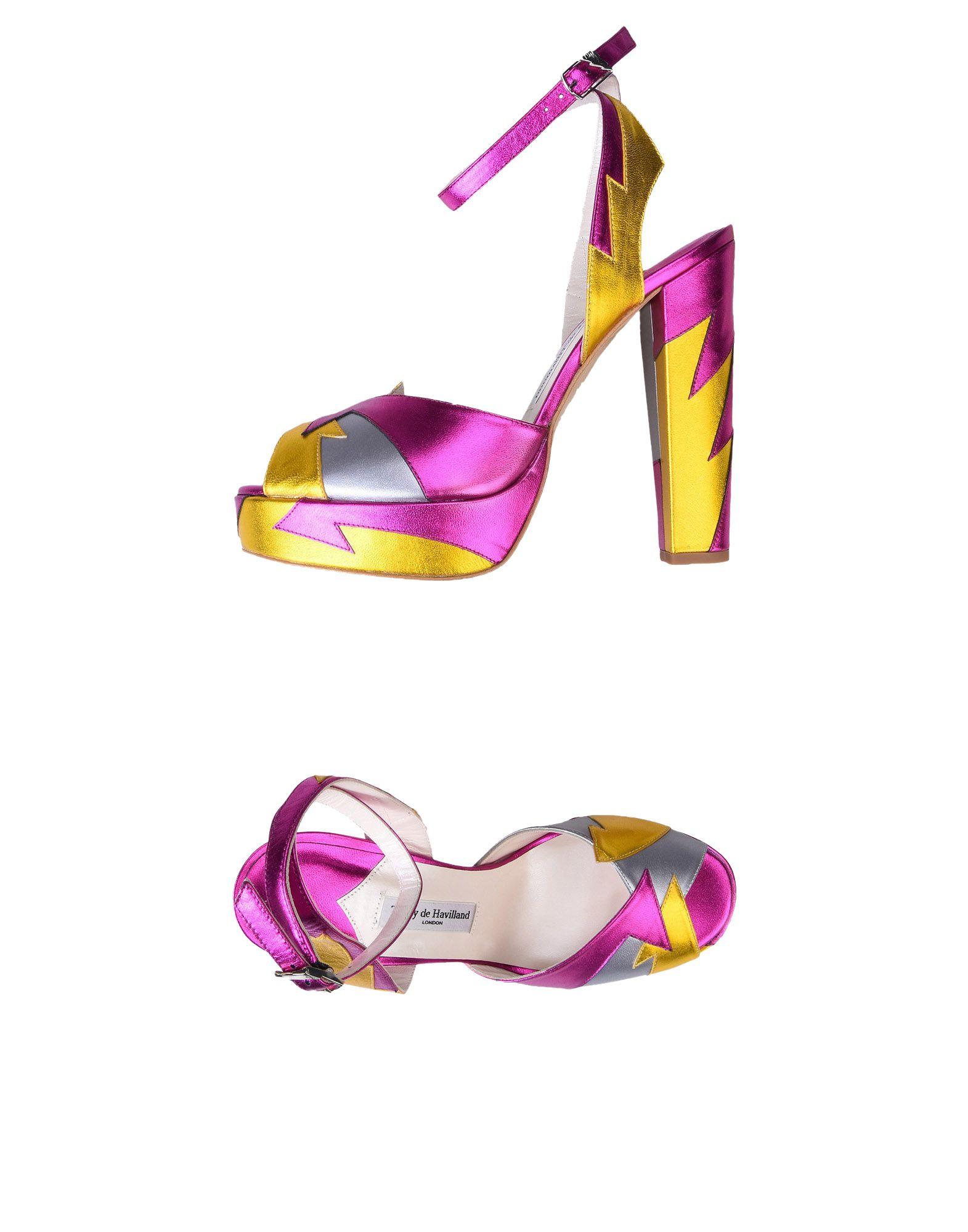 Sandales Terry De Havilland Zia Pin K/Yellow - Femme - Sandales Terry De Havilland sur