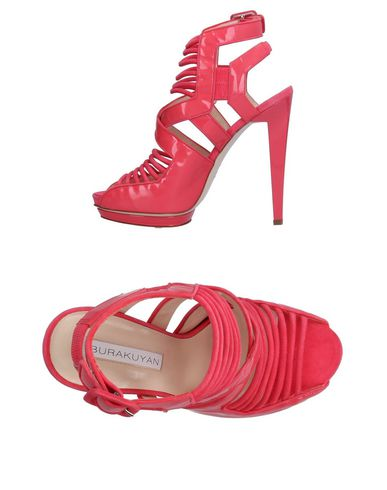 BURAK UYAN Sandals in Coral