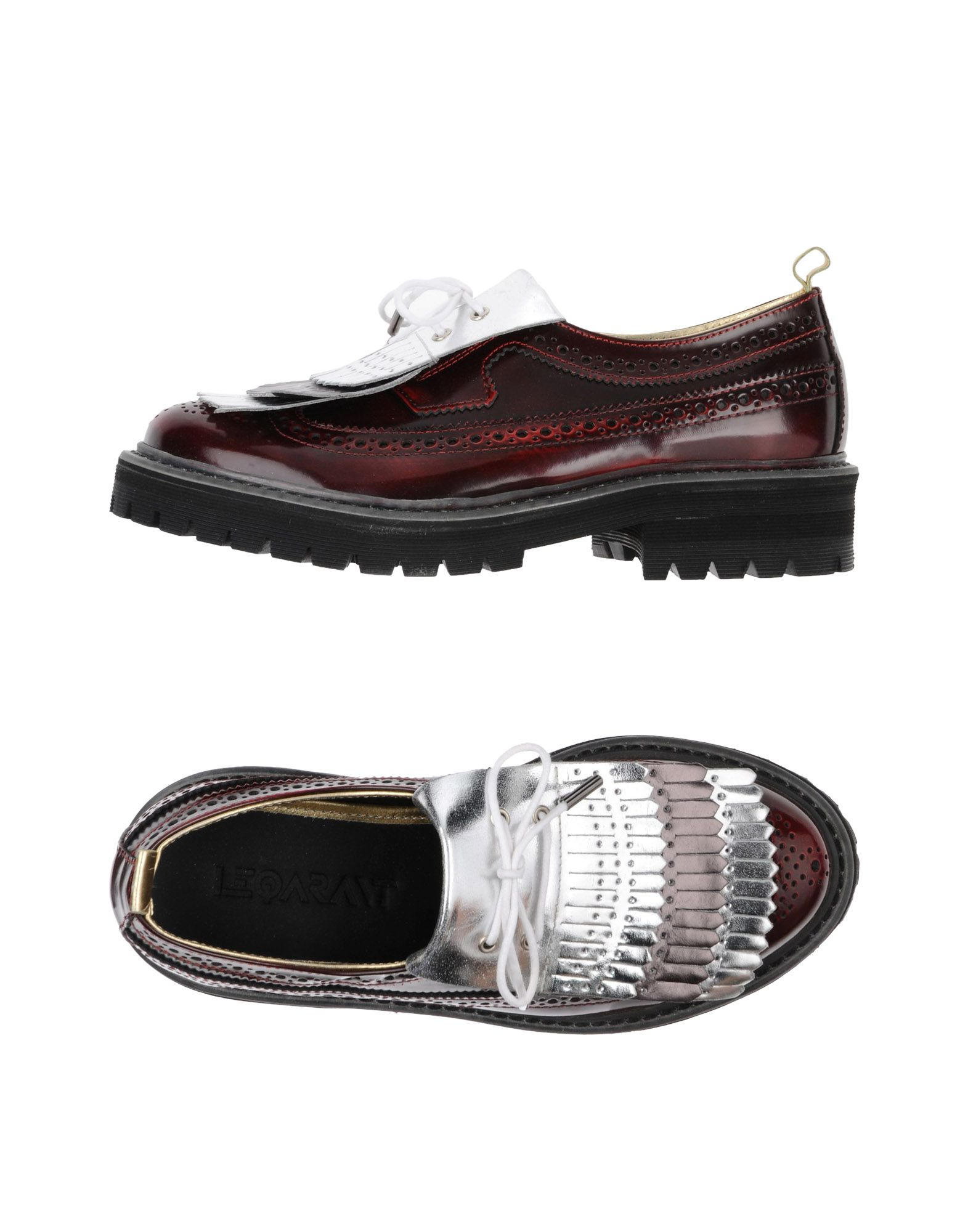 Stilvolle billige Schuhe Le Qarant Schnürschuhe Damen  11251209QW