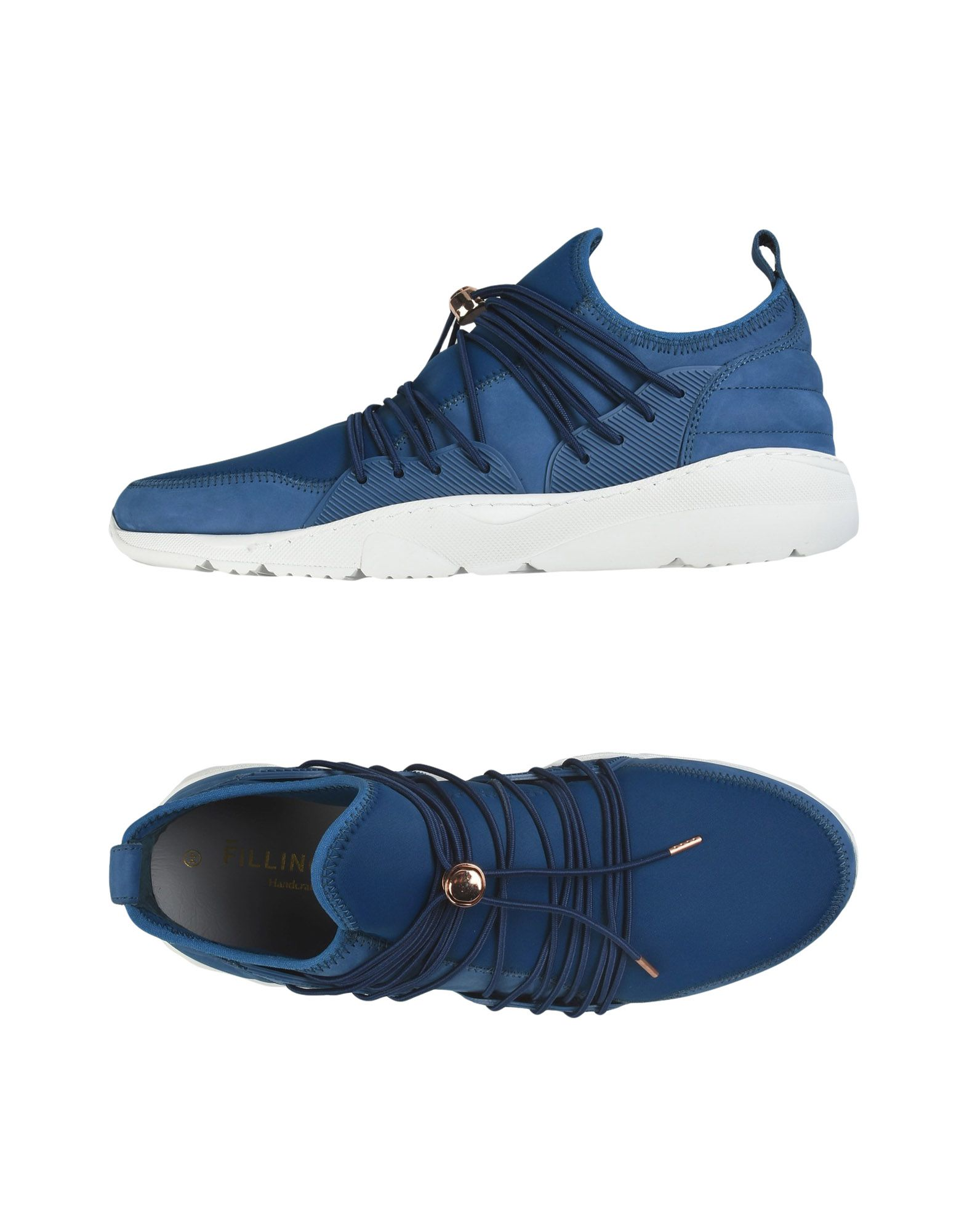 Sneakers Filling Pieces Runner 3.0 Low Laced - Homme - Sneakers Filling Pieces  Bleu Chaussures casual sauvages