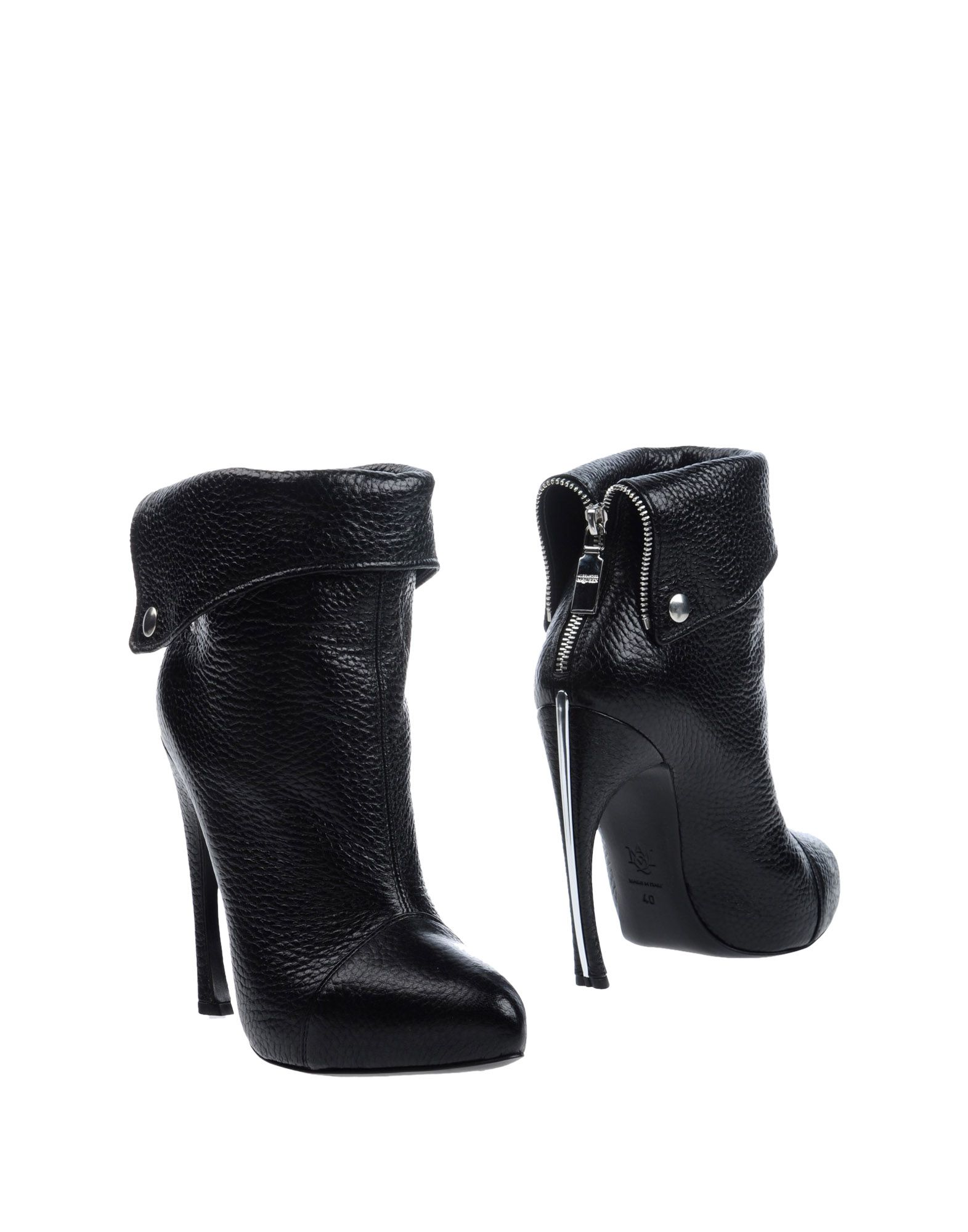 Bottine Alexander Mcqueen Femme - Bottines Alexander Mcqueen Noir Chaussures femme pas cher homme et femme