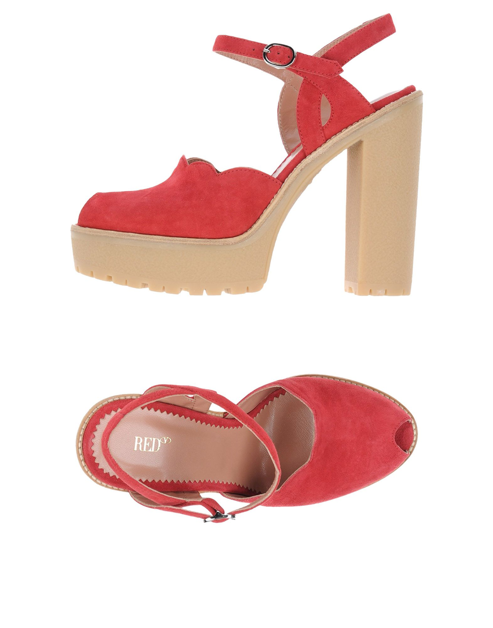 Stilvolle billige Schuhe Red(V) Sandalen Damen  11267396ON