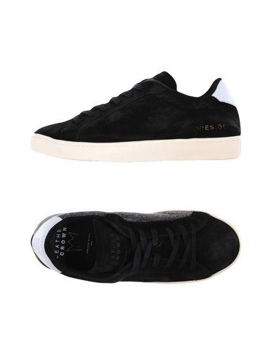 Zapatos especiales para hombres y mujeres Zapatillas Leather Crown Crown Mujer - Zapatillas Leather Crown Crown - 11278811AB Negro 70fa0d