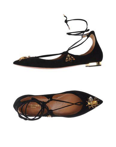 AQUAZZURA Ballet Flats in Black