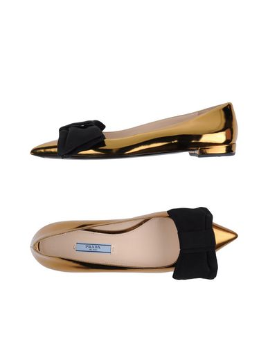 PRADA Ballet Flats in Gold