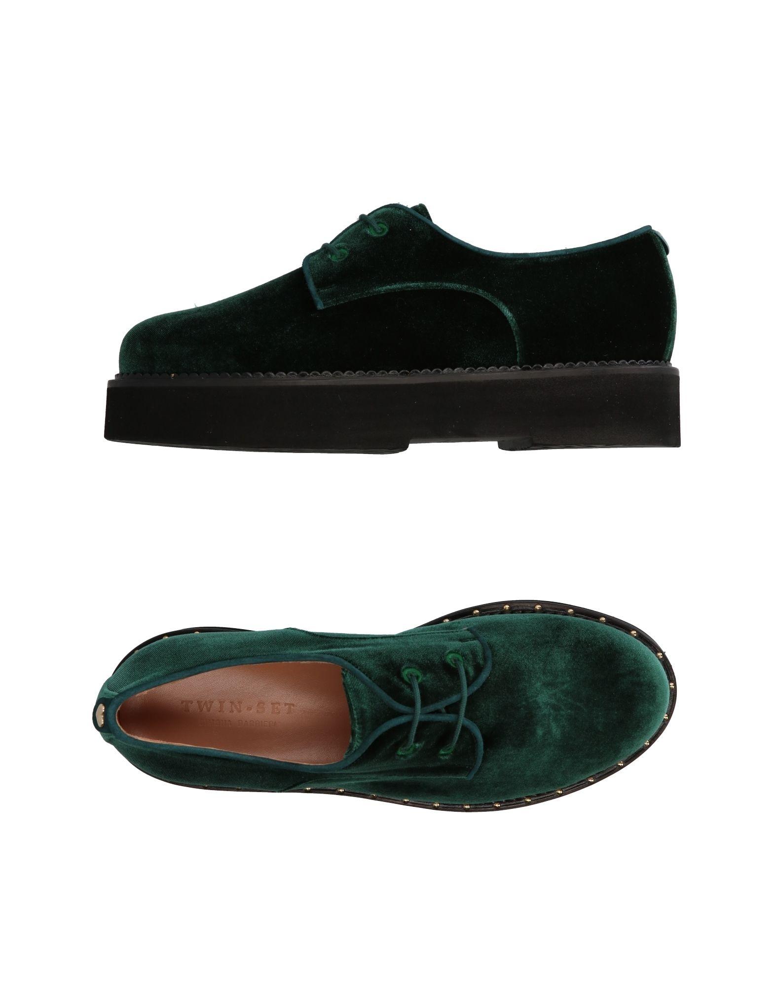 Tiempo limitado especial Zapato De Cordones Twin-Set Simona Barbieri Barbieri Simona Mujer - Zapatos De Cordones Twin-Set Simona Barbieri  Verde d35866