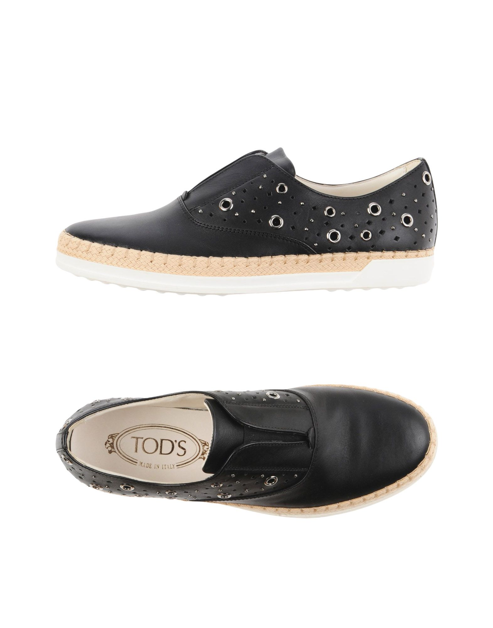 Baskets Tod's Femme - Baskets Tod's Noir Chaussures casual sauvages