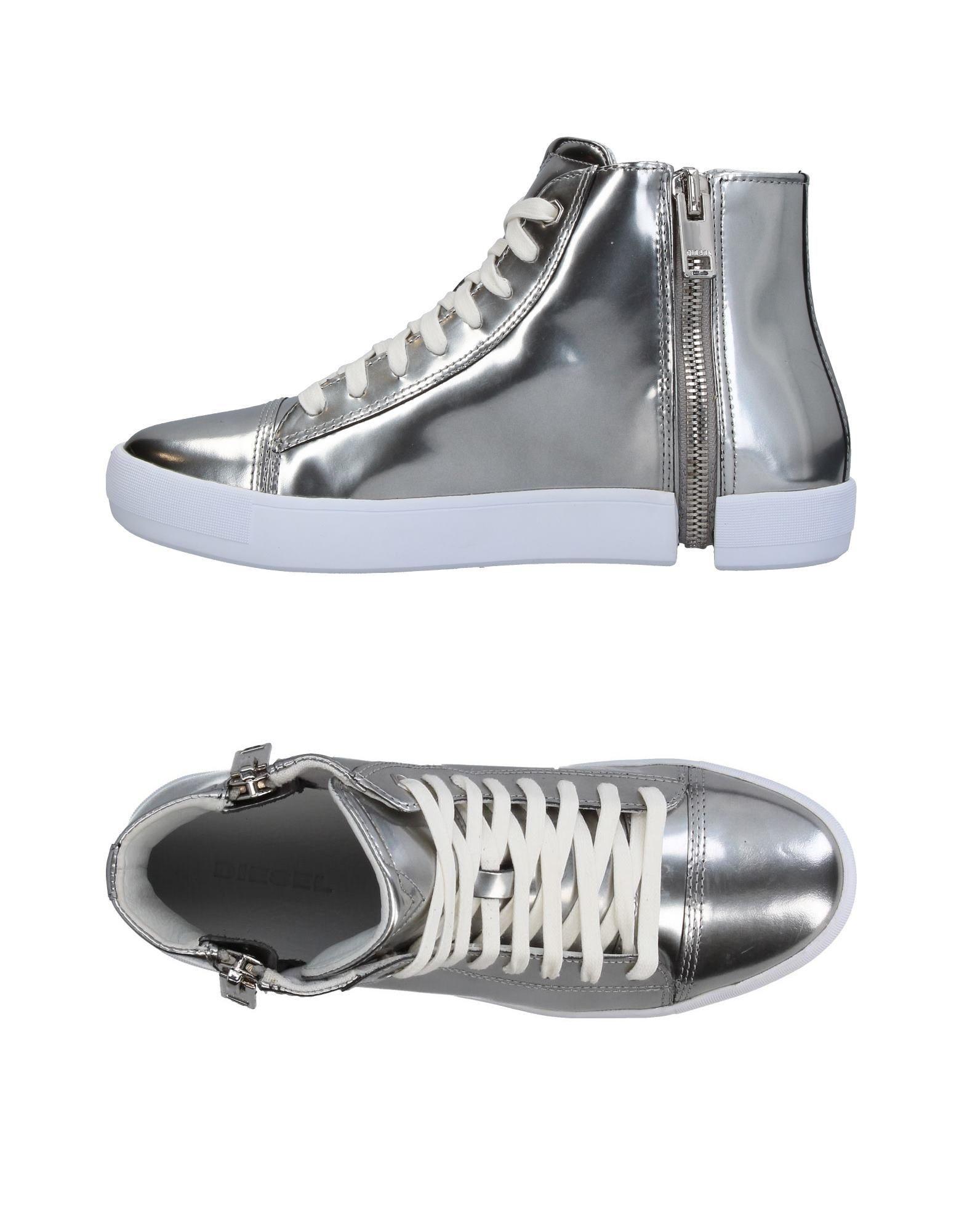 Nuevos mujeres, zapatos para hombres y mujeres, Nuevos descuento por tiempo limitado Zapatillas Diesel Mujer - Zapatillas Diesel  Plata 1ac796
