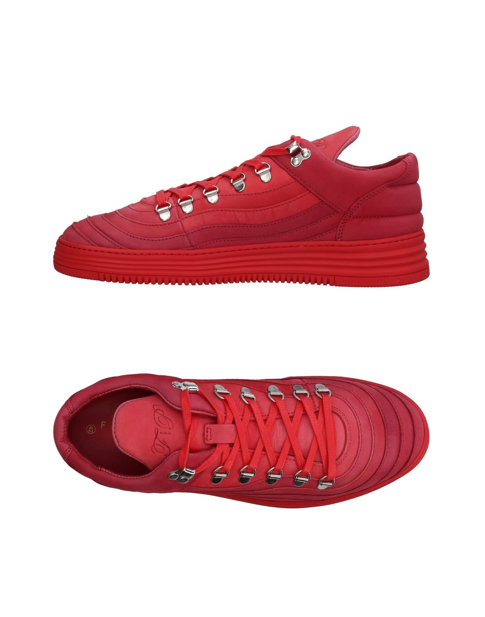 Sneakers Filling Pieces Homme - Sneakers Filling Pieces  Rouge Chaussures femme pas cher homme et femme