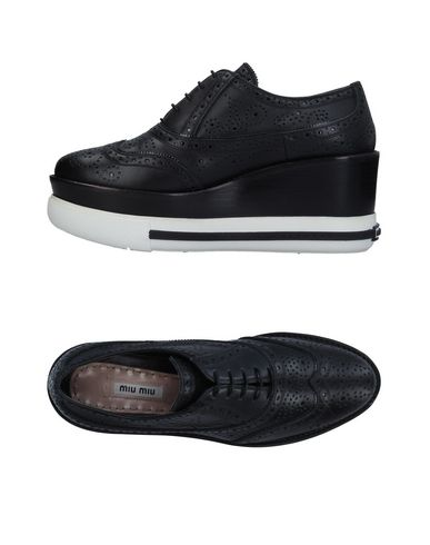 Miu Miu À Chaussures Noir Chaussures Lacets 1w7pdqC
