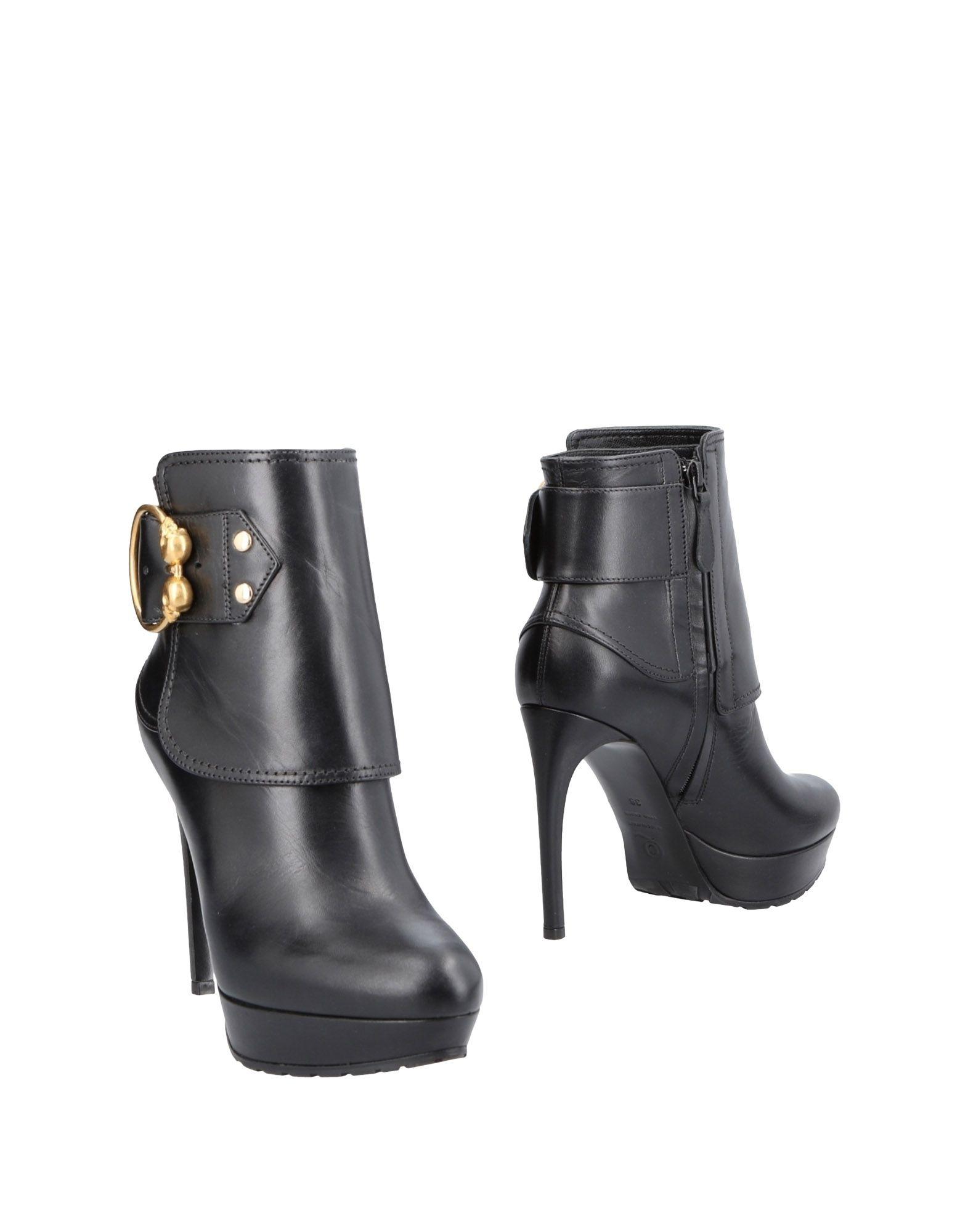 Bottine Alexander Mcqueen Femme - Bottines Alexander Mcqueen Noir Chaussures casual sauvages