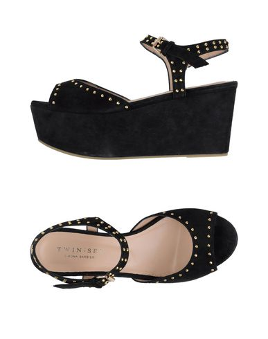 TWIN-SET Simona Barbieri Sandals Black Women