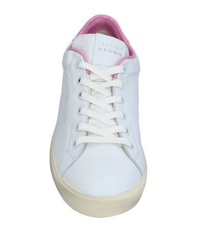Leather Sneakers Crown Blanc Leather Sneakers Crown Leather Blanc qnqr7wZY